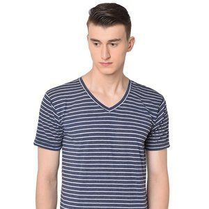 Mossimo Navy Striped Athletic Fit T-Shirt